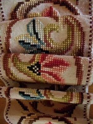 """French Vintage Quality Handwoven Tapestry Panel 9ft.6"""" long"""