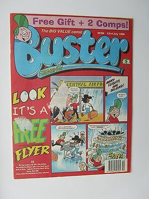 BUSTER COMIC 23rd July 1996. Novel 21st Birthday Gift!