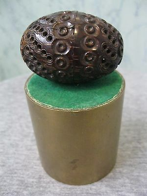 Vintage/antique Carved Coquilla Nut Pomander.