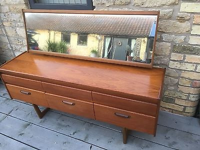 Vintage retro original william Lawrence teak wooden dressing table, mirror