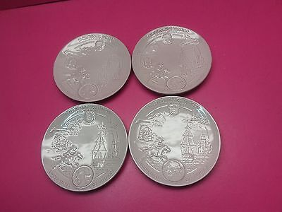 "FRANKOMA 1972 SET OF 4  BICENTENNIAL PROVOCATIONS WALL PLATES 8""d"