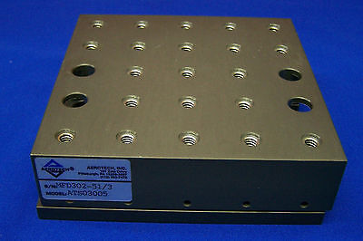 "AEROTECH ATS03005 SN MFD302-51/3 MECHANICAL-BEARING LINEAR STAGE 5"" x 5"" stage"