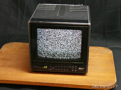 "Vintage Color Tv Zenith 9 Inch 9"" Portable Ac Dc Tested Model D0930S CRT"