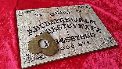Classic Ouija Board Parchment Weja & Planchett Instructions Ghost Game Halloween