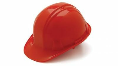 Pyramex HP14120 Red 4 Point Ratchet Suspension Safety Cap Style Hard Hat