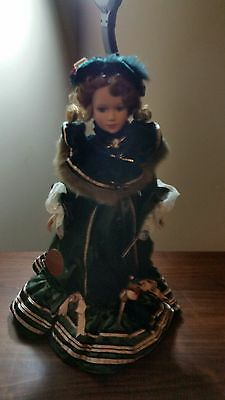 """Seymour Mann Consolded Collection Porcelain Dolls """"Marie"""" Doll With Stand Cameo"""