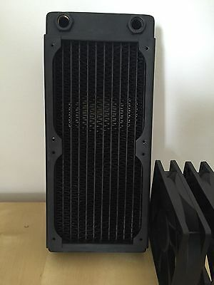 XSPC RX240 Radiator + 2x Corsair Fans RX 240mm Water Cooling