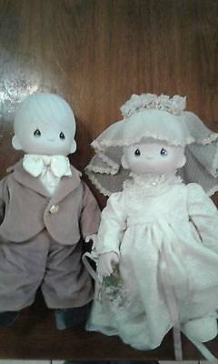 Precious Moments Bride and Groom good used condition.