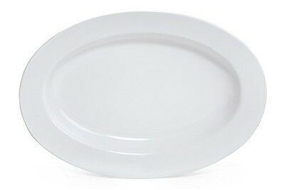 """Milano OP-618-W Oval Platter, 18"""" x 13.5"""", White (Pack of 12)"""