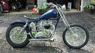 1970 Triumph Bonneville  1970 Triumph 750 5 Speed 60's USA Style Chopper Bobber