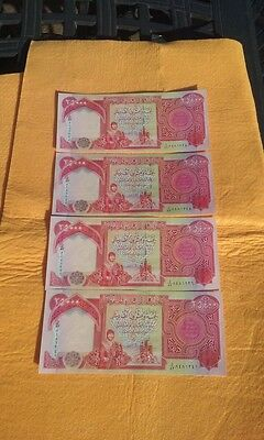 100,000 IRAQI DINARS UNCIRCULATED 4 x 25,000 NOTES