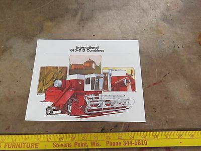 International Harvester 615-715 Combines brochure