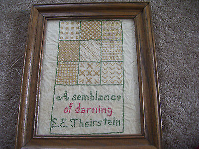 "Antique Cross Stitch ""a Semblance Of Darning"""