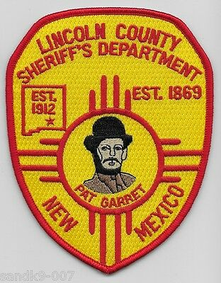 New Lincoln County Sheriff State of NEW MEXICO NM Patch PAT GARRET patch