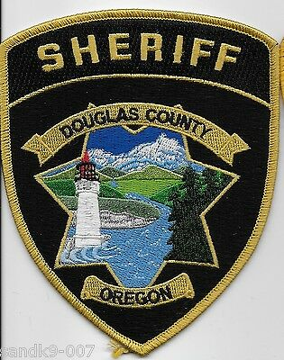 DOUGLAS County Sheriff State of OREGON OR Shoulder Patch NEW Lighthouse