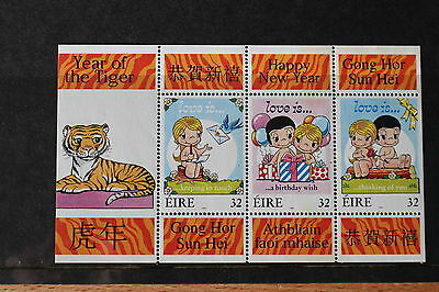 1998 Ireland Year of the Tiger Lunar / Chinese New Year Mini Sheet MS MNH
