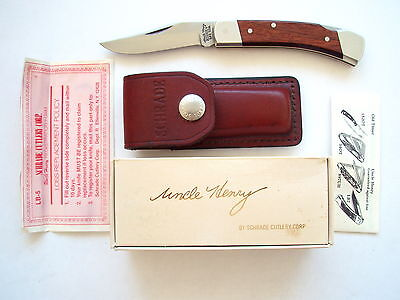 Original Usa Made Schrade Lb5 Smokey Uncle Henry Lockback Knife