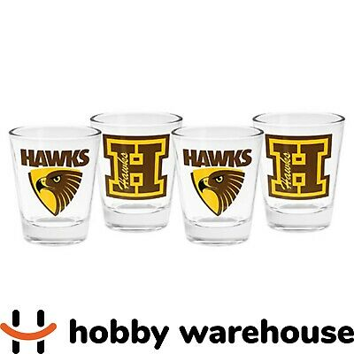Hawthorn AFL 4-Pack Shot Glass Set