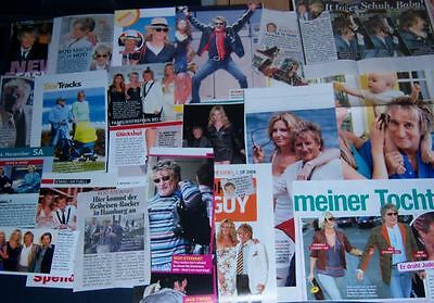 Rod Stewart 75 pc German Clippings International Collection Penny Lancaster