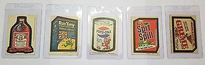 WACKY PACKAGES SPIT AND SPILL , RUN TONY, PUPSI COLA, BLOODWEISER, GRIME l@@K