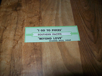 SOUTHERN PACIFIC I Go To Pieces b/w Beyond Love JUKEBOX TITLE STRIP WB 19860