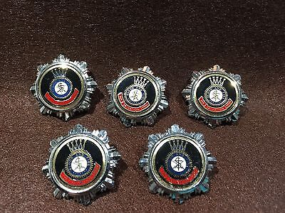 Lot of 5 Vintage Salvation Army Blood and Fire Pins