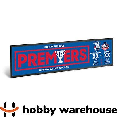 Western Bulldogs 2016 Premiers Score AFL Bar Runner