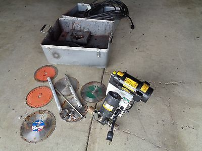 Macs Clipper Masonry Concrete Floor Saw With Blades An Cord