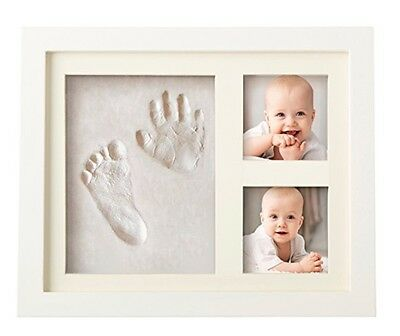 Bubzi Co Baby Hand And Footprint Picture Frame Kit For Boys And Girls