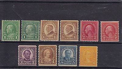 USA 1922 Series Mint NH Coil stamps