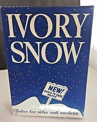 New Old Stock Ivory Snow Vintage Box Detergent Snow 1950's Procter & Gamble USA