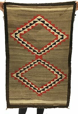Authentic Antique Indian Native American textile, rug, tapestry 48.5 x 31