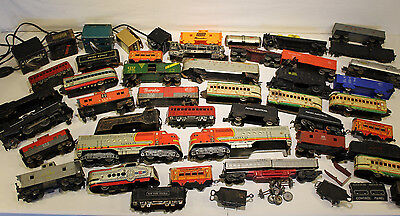 Huge Lot AMERICAN FLYER, Lionel, Marx TRAINS Train Set Tracks Toy Power Packs