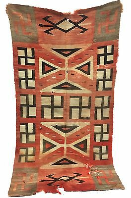 Authentic Antique Navajo Indian Native American textile, rug, tapestry 47 x 85