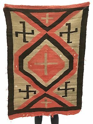 Authentic Antique Navajo Indian Native American textile, rug, tapestry 57 x 40.5