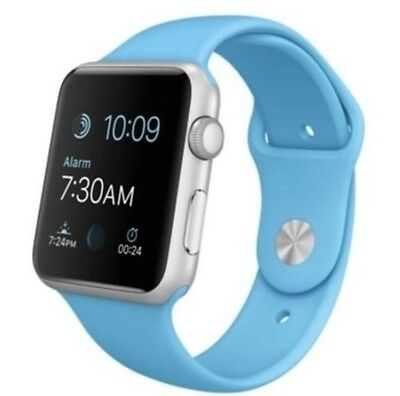 Apple Watch Sport (42mm silver aluminum case, blue band), 1st generation