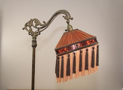 Bridge floor lamp shade victorian pleated fringed tailor made bridge floor lamp shade victorian pleated fringed tailor made lampshades brown aloadofball Image collections
