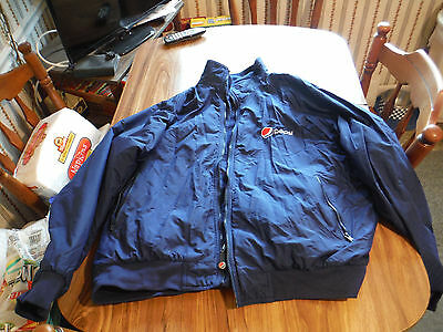 Pepsi Cola Aramark Coat Delivery Driver Work Uniform Lined Jacket Coat 2XL