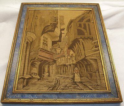 Very Old Antique Framed Tapestry - Victorian England (Europe) Unmarked