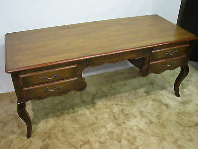 Striking Vintage 1960s - 70s Provincial French/Italian Style Desk or Bureau Plat