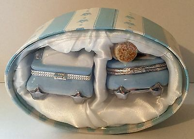 MUD PIE The Prince First Tooth  And First Curl Porcelain Keepsake Boxes  2""