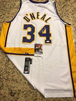 Shaquille O'Neal Los Angeles Lakers Signed Authentic Jersey!!! Hof! Mvp