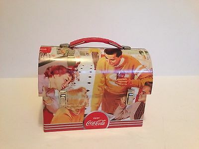 2009 Coca-Cola brand Tin Box Lunch Box Pail Steel Metal  Excellent Condition