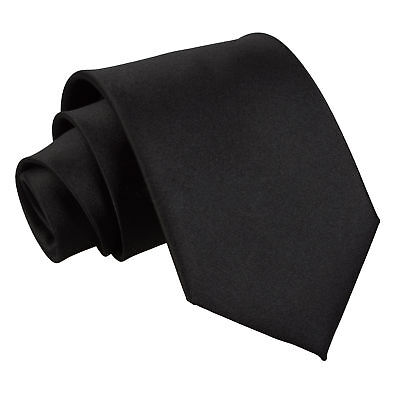 Mens Slim Skinny Necktie Wedding Party Solid Plain Tie Formal Prom Business Ties