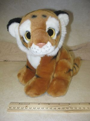 """9"""" Ty Beanie Boo Big Eyes Wild Beasts Pouncer Tiger Plush 2011 clean pre-owned"""