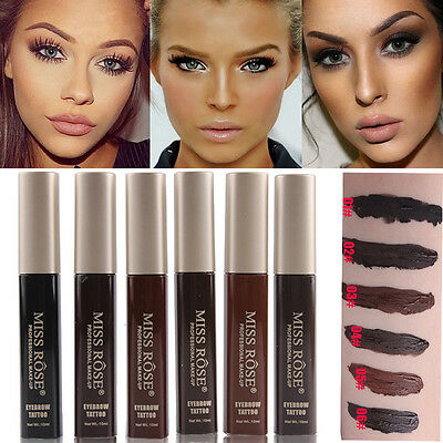 6 Colors Peel-off Eyebrow Tattoo Tint My Brow Gel Waterproof Long lasting Makeup