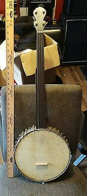 Vintage Fretless 5 String Banjo Project  Clawhammer Drop Thumb Retro Cool