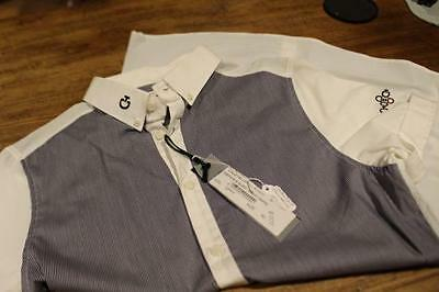 CAVALLERIA TOSCANA Short Sleeves MENS  SHOW Shirt Blue White Italy 37 US Small
