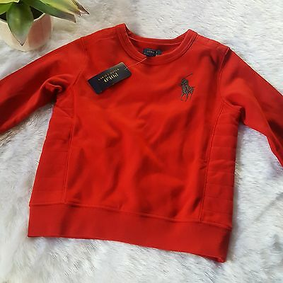 Polo Ralph Lauren Boys NEW Crewneck Sweater Cruise Red Size 6 N30