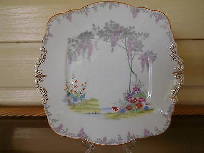 """Vintage Paragon """"Merrivale"""" Cake Plate Made In England 1940s"""